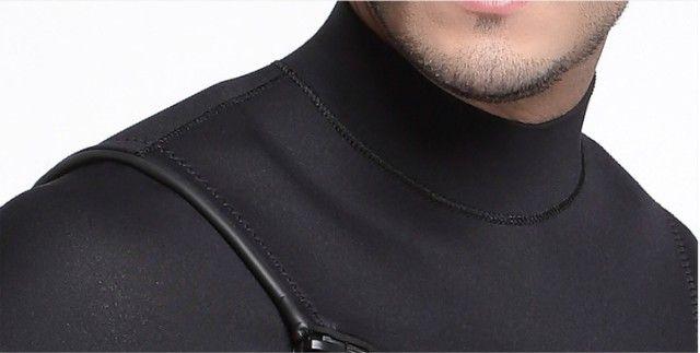 Roupa de neoprene 3mm Short John manga longa com ziper no peito (NOVA) - Foto 4