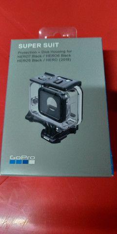 Controle Go Pro 5/6/7/8/9 + Sd Xtreme + Supersuit p/ 60 metros - Foto 4