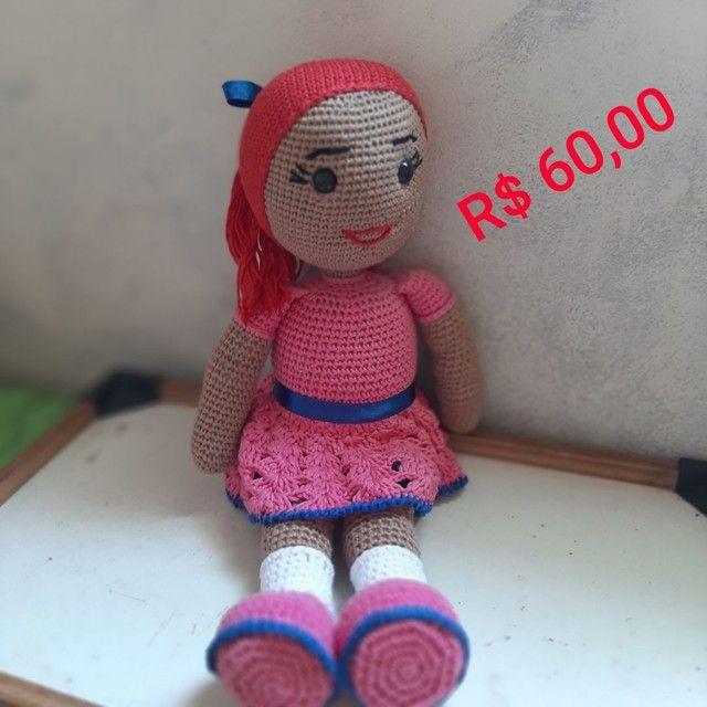 Bonecas em crochê  - Foto 2
