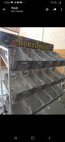 Expositor  Hortrfrut com caixas - Foto 2