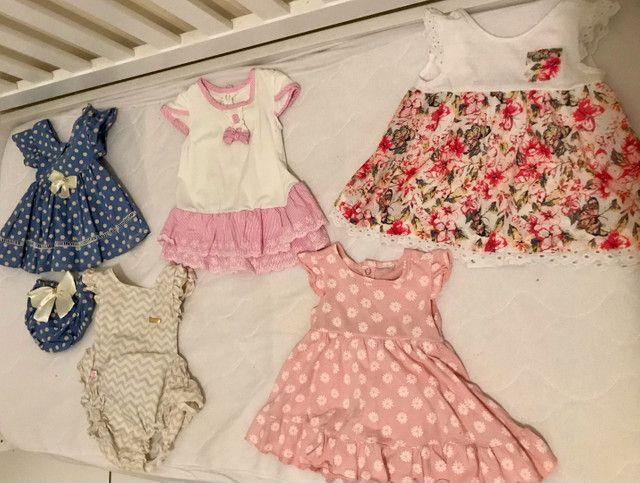 Vendo lote de vestidos infantis