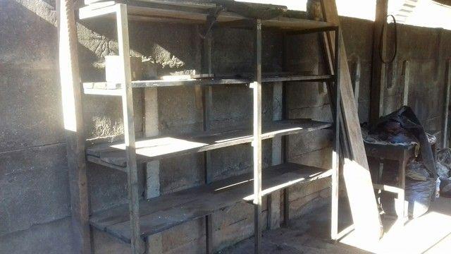 Patreleira de metalon e madeira  - Foto 3