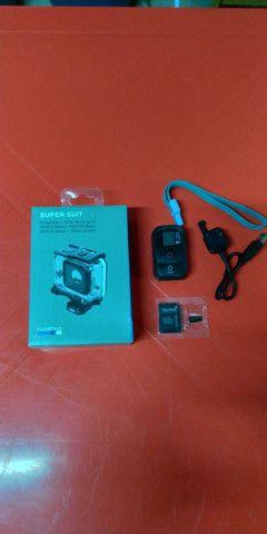 Controle Go Pro 5/6/7/8/9 + Sd Xtreme + Supersuit p/ 60 metros - Foto 2