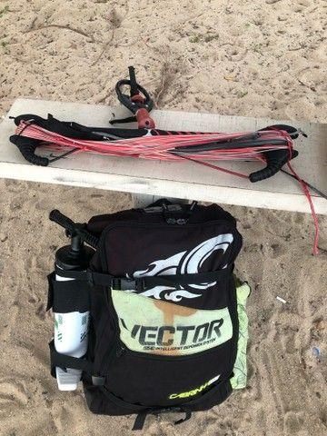 Kitesurf completo Cabrinha Vector 11 - 2012 + prancha e trapézio  - Foto 6