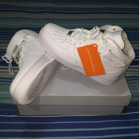 Tênis Nike Air Force 1  07 Mid Branco n° 39 Original (Zeradoooooo na Caixa) ee8d061b14