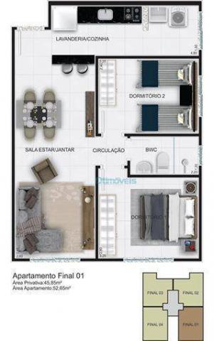 Apartamento com 2 dormitórios à venda, 44 m² por r$ 128.000 - thomaz coelho - araucária/pr - Foto 4