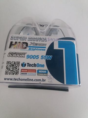 Lâmpada super branca 9005 tech one garantia instalado na hora em seu carro