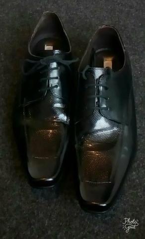 Sapato social em couro legítimo tamanho 41