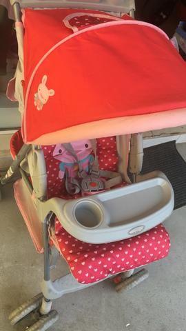 Carrinho de bebê menina rosa