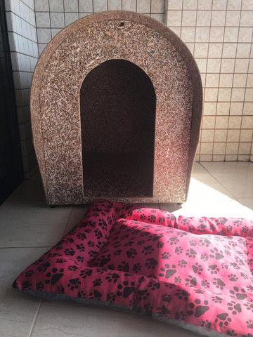 Casinha grande para cachorro e cama - Foto 3