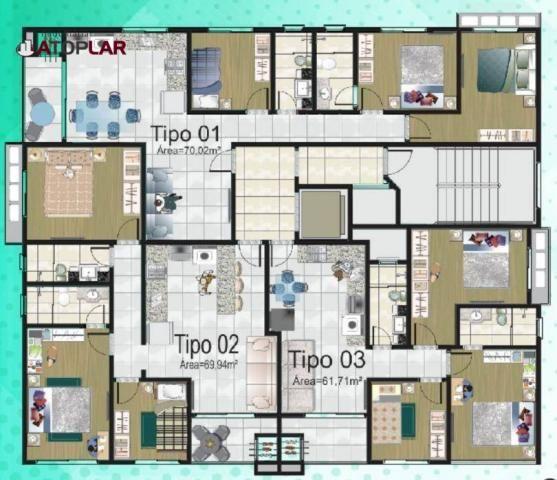 Apartamento com 3 dormitórios para alugar, 70 m² por R$ 2.200/mês - Perequê - Porto Belo/S - Foto 14