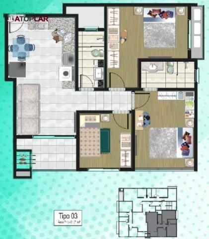 Apartamento com 3 dormitórios para alugar, 70 m² por R$ 2.200/mês - Perequê - Porto Belo/S - Foto 17