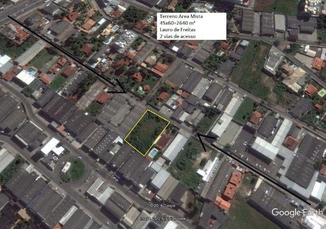 Terreno 2640M2 em Lauro d Freitas plano murado 3 mts d altura - Foto 2