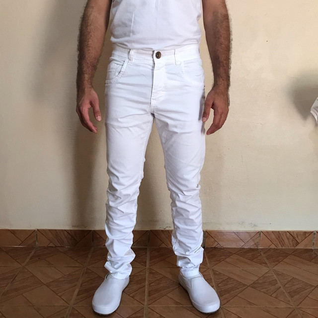 Calça branca jeans slim n 42 - Foto 2