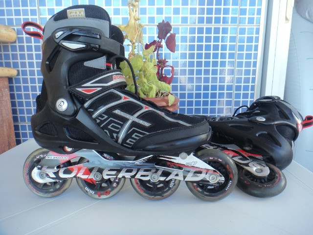Patins Rollerblade SG7 e Tênis Shimano Pedaling (38) Seminovos - Foto 2
