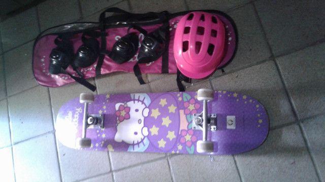 skate completo de menina - Foto 4
