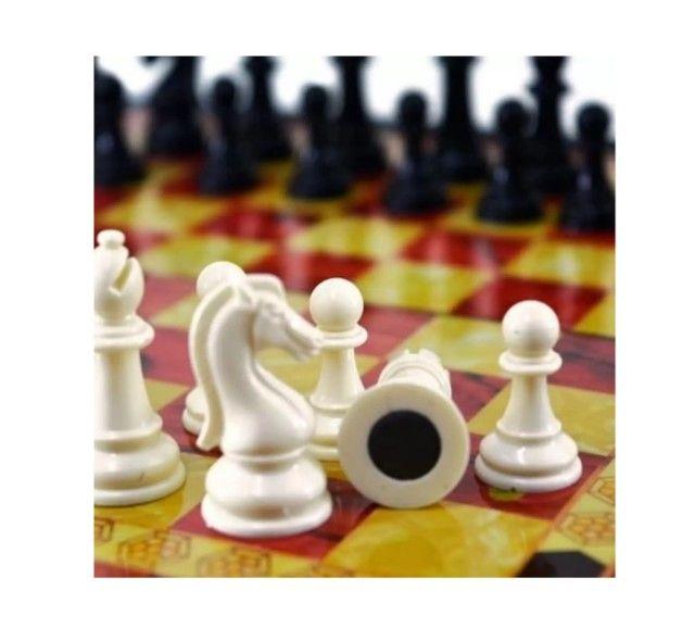 Jogo de xadrez magnético com 32 peças magnético - Foto 3