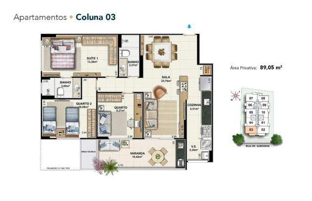 Apartamento de 3 quartos em santa rosa - Foto 2