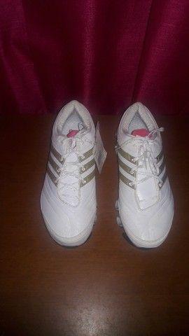 Tênis Adidas Unissex Originais Couro Novos 36 - Foto 3