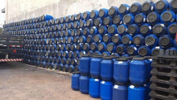 JR Tambores Leiterinha Plástico 50 Litros Tampa Rosqueável - Foto 3