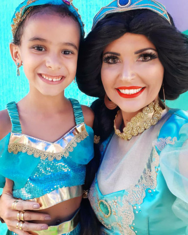 Festa Aladdin princesa Jasmine personagem vivo  - Foto 4