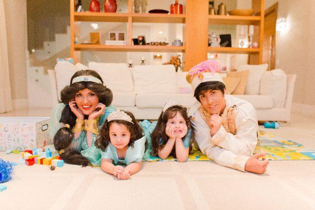 Festa Aladdin princesa Jasmine personagem vivo