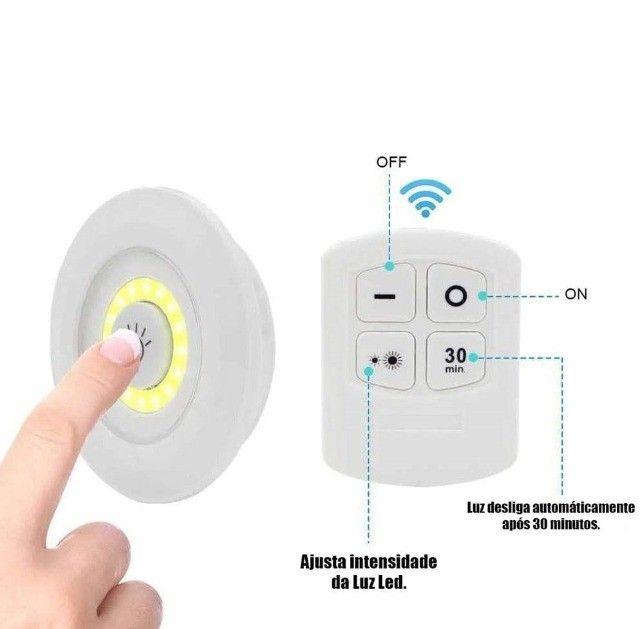 Kit Lâmpada 3 Unidades com Controle