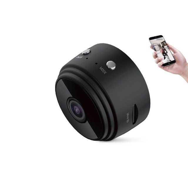 Mini Câmera Espiã Visão Noturna Hd Detecta Movimento Micr