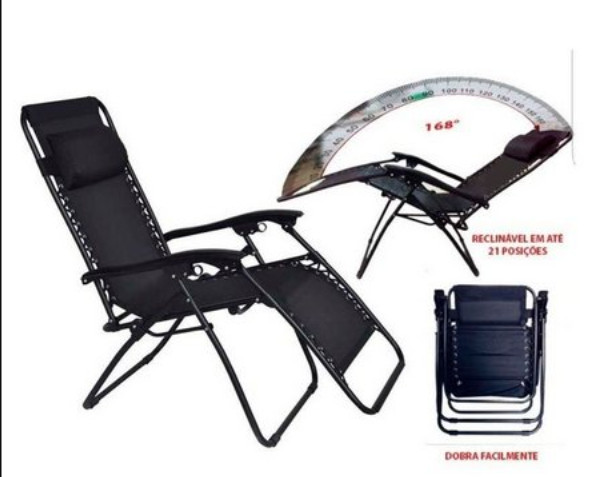 Cadeira Reclinável Trançada Preta - MOR