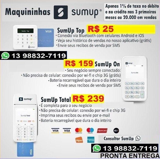 Maquininha cartão de debito/credito pronta entrega Maquina Sum Up