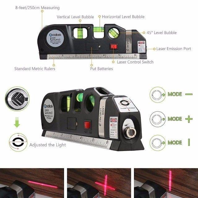Nível Laser Profissional Trena Level Pro3 Estágios Nivelador