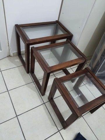 Conjunto três mesas apoio