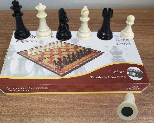 Jogo de xadrez magnético com 32 peças magnético - Foto 5