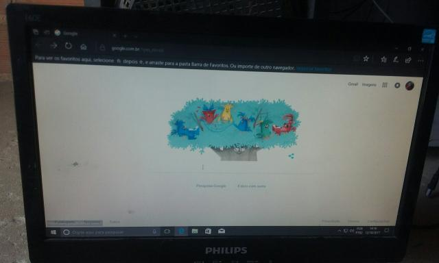 Monitor Philips barato 100 reais