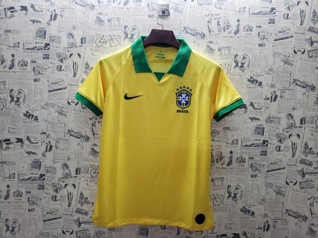 12ecc204f2 Camisa Seleção Brasileira (Brasil) I - Copa América 2019 - Roupas e ...