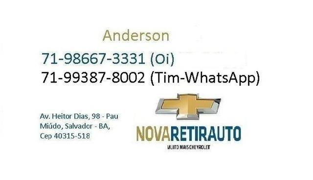 Procurar Anderson - Onix lt 1.0 16/17 completo - prata so57.915km - confira - - Foto 13