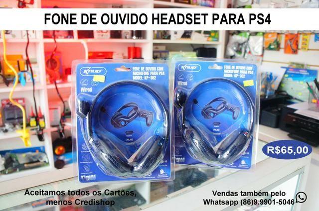 Fone Headset para ps3 entrada p2