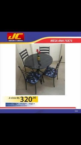 Mesa Ana com 4 cadeiras A Pronta Entrega