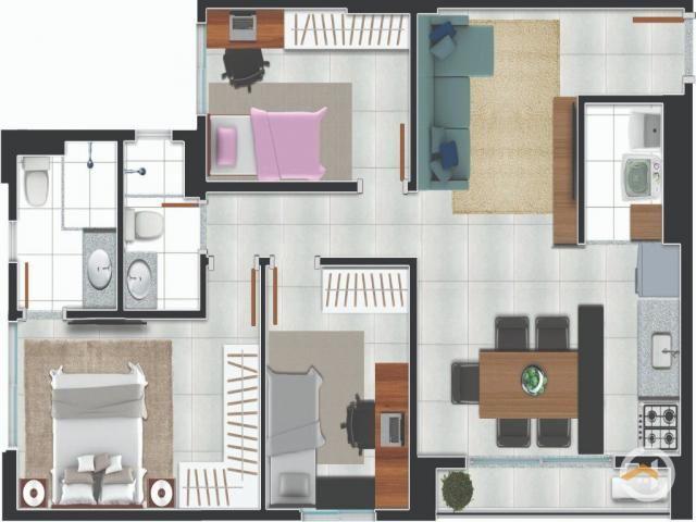 Apartamento à venda com 2 dormitórios em Setor negrão de lima, Goiânia cod:4171 - Foto 17