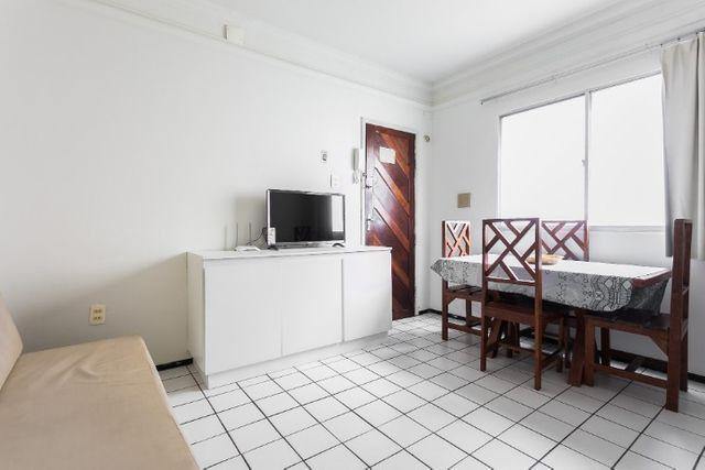 Apartamento 12 A, com sl e quarto, completo com WI-FI - mobiliado -