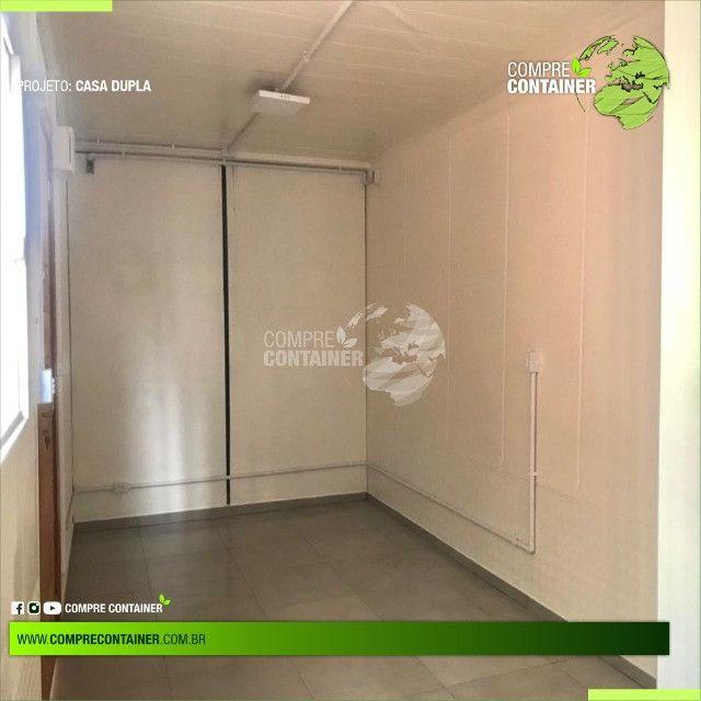 Casa dupla 30m² em container - Ideal para alugueis - Foto 4