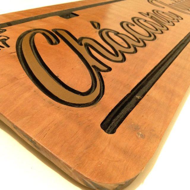 Placas de madeira personalizadas