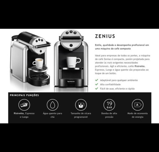 Máquina de Café Nespresso Zenius Profissional - Foto 6