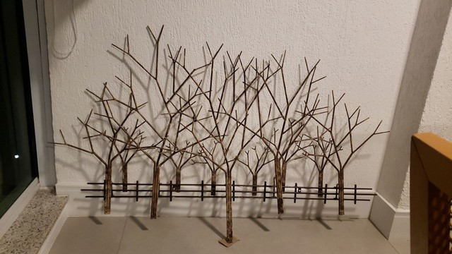 Escultura Árvore em aço da Velha Bahia