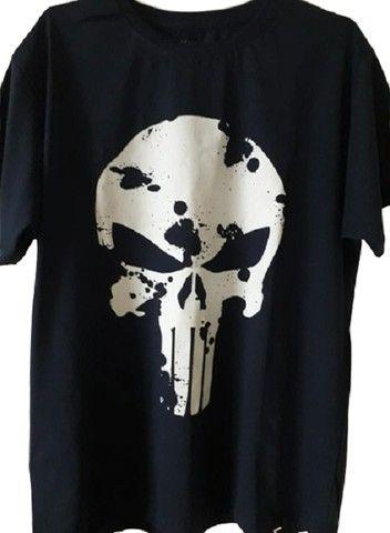 Camiseta Justiceiro Nova. Entrego na ilha ou centro Grátis. Aceito cartão - Foto 4