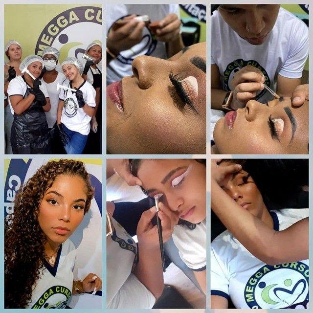 Curso de Design de sobrancelhas, extensão de cílios e Maquiagem - Foto 2