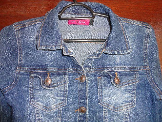 Jaqueta jeans tamanho 16 menina - Foto 3
