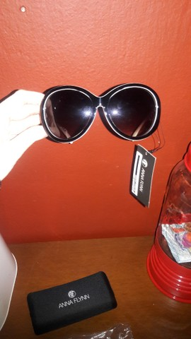 Óculos Sol Anna Flynn Original Uva Novos - Foto 3
