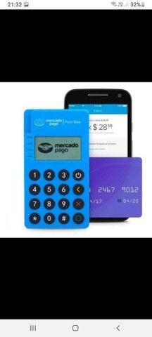 Maquininha Mercadopago POINT ME 30s Blue Nova via Bluetooth