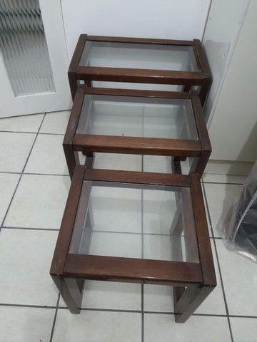 Conjunto três mesas apoio - Foto 3